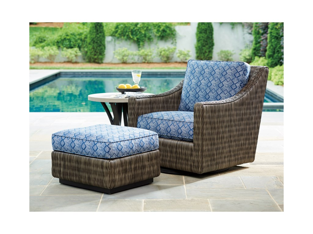 Tommy Bahama Outdoor Living Cypress Point Ocean TerraceOutdoor Swivel Glider Lounge Chair
