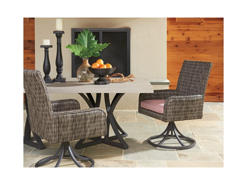 Tommy Bahama Outdoor Living Cypress Point Ocean TerraceOutdoor Swivel Rocker Dining Chair
