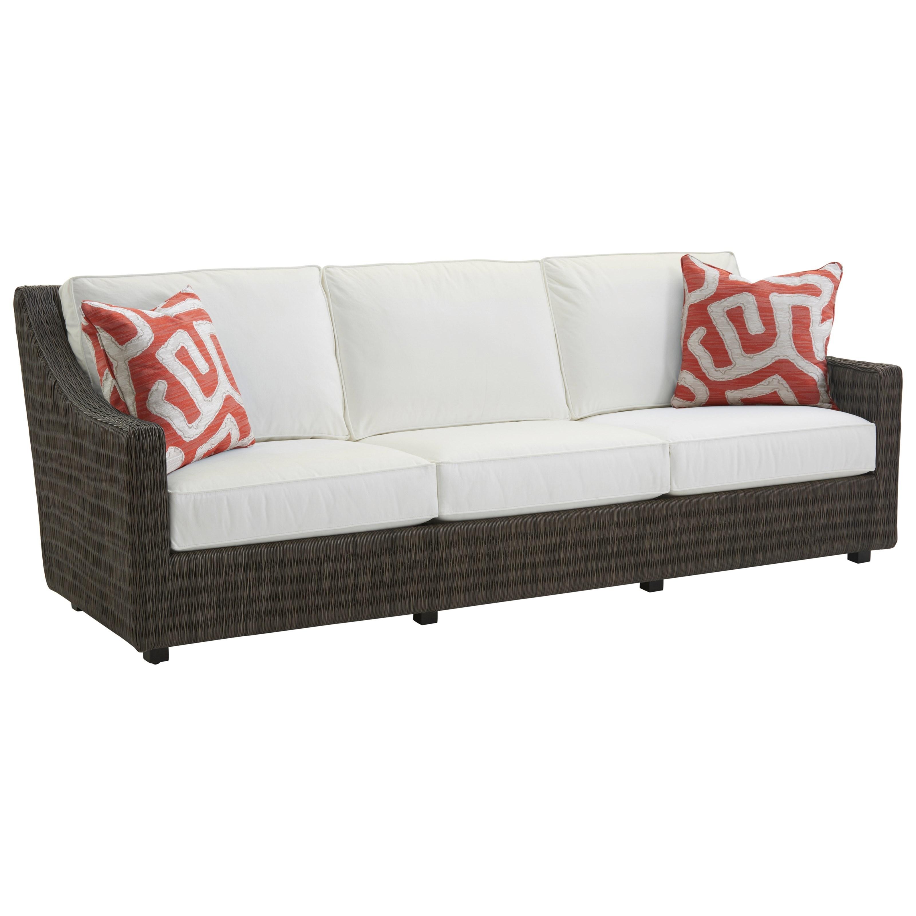 Outdoor Sofa with Weatherproof Cushions