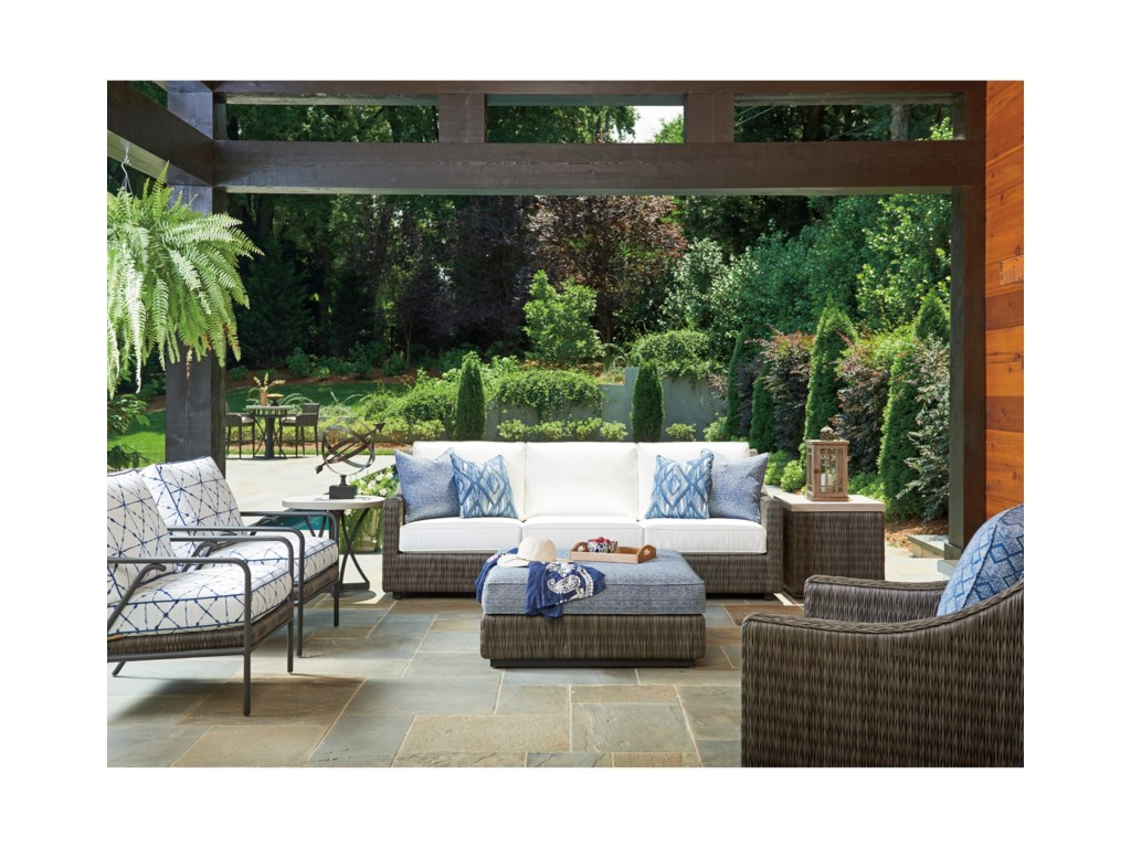 Tommy Bahama Outdoor Living Cypress Point Ocean TerraceOutdoor Cocktail Ottoman