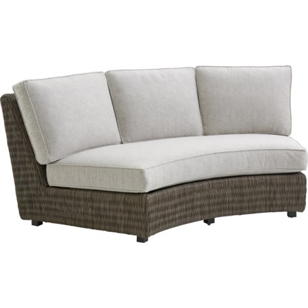 Outdoor Armless Sofa w/ Box Cushions