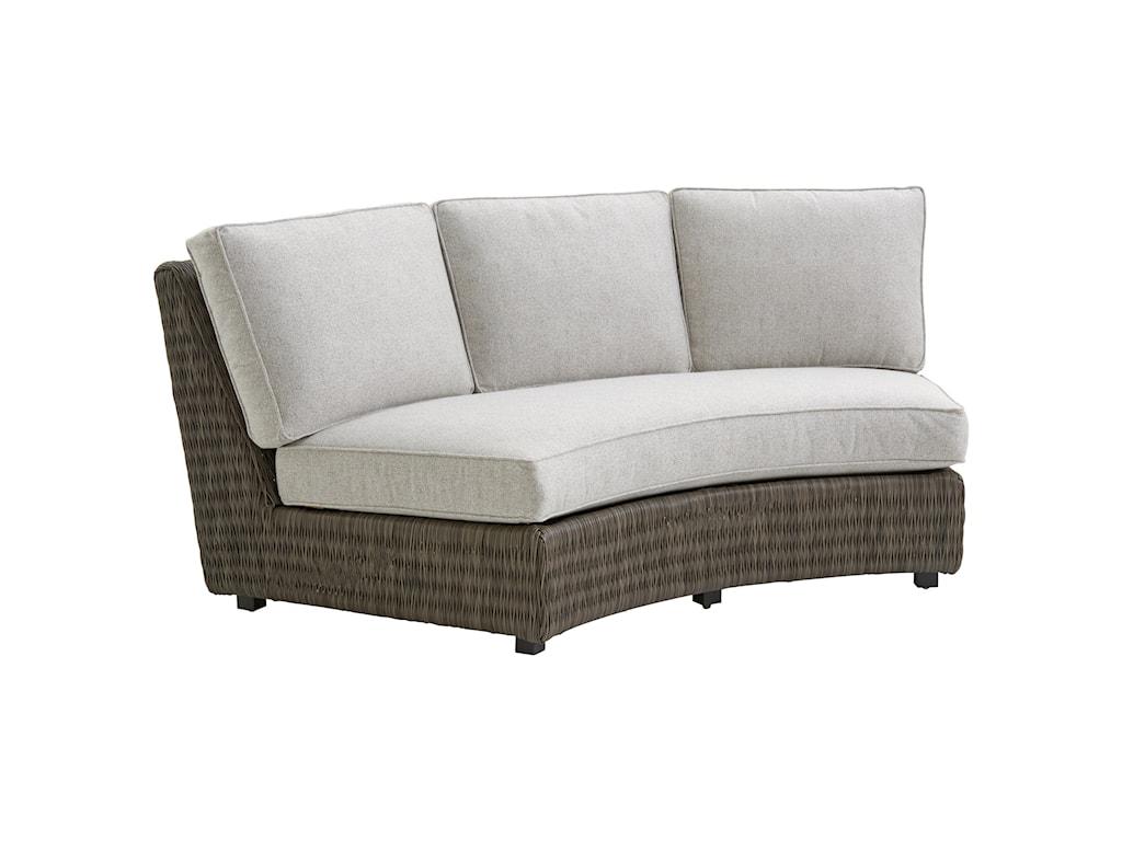 Tommy Bahama Outdoor Living Cypress Point Ocean TerraceOutdoor Armless Sofa w/ Box Cushions