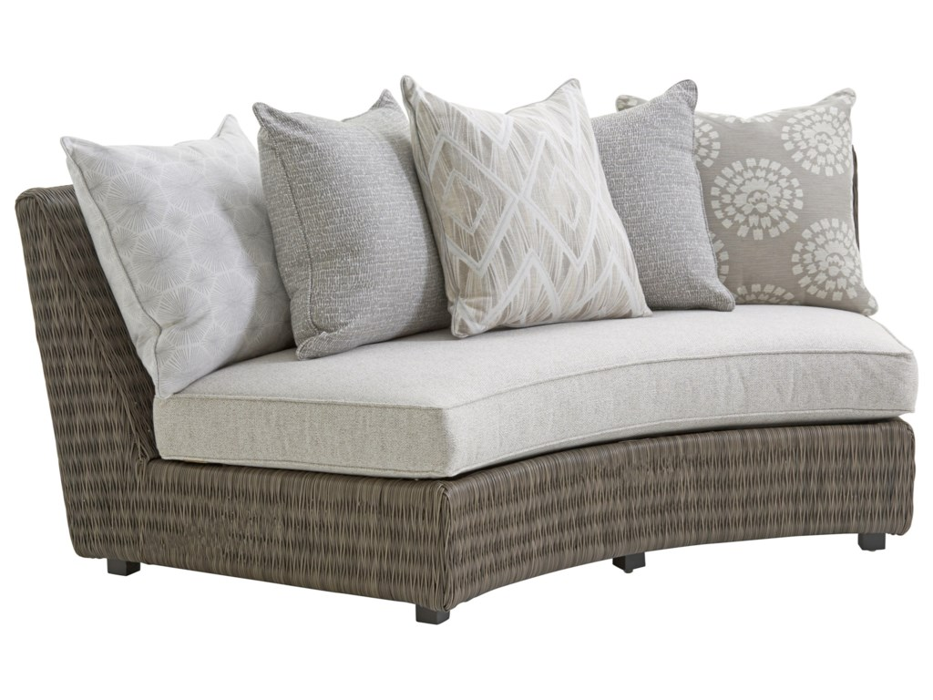 Tommy Bahama Outdoor Living Cypress Point Ocean TerraceOutdoor Armless Sofa w/ Scatterback Cushions