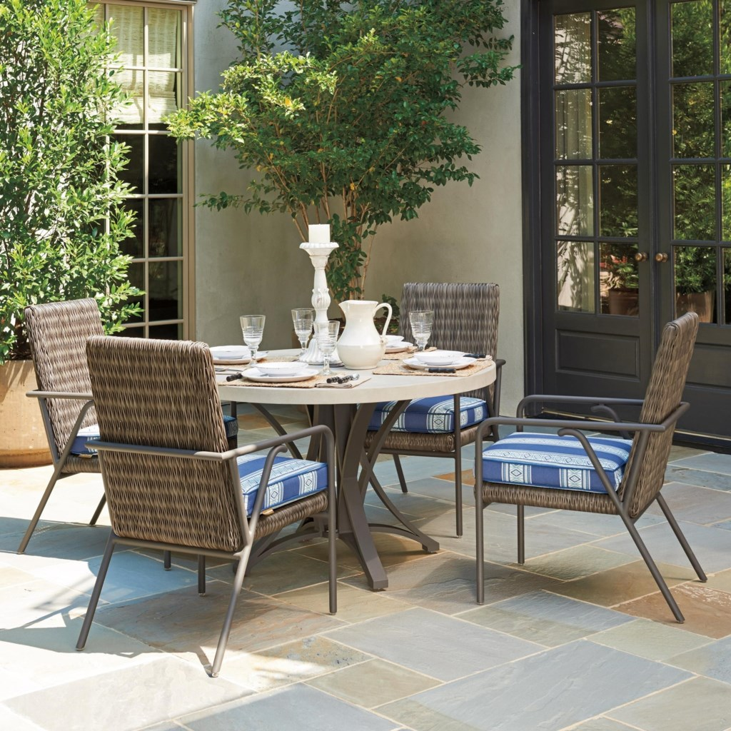 Tommy Bahama Outdoor Living Cypress Point Ocean Terrace 5 Pc Outdoor
