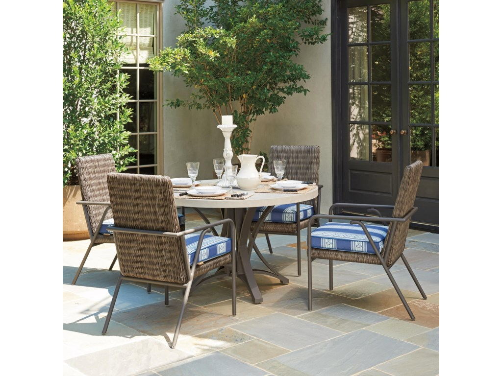 Tommy Bahama Outdoor Living Cypress Point Ocean Terrace5 Pc Outdoor Dining Set