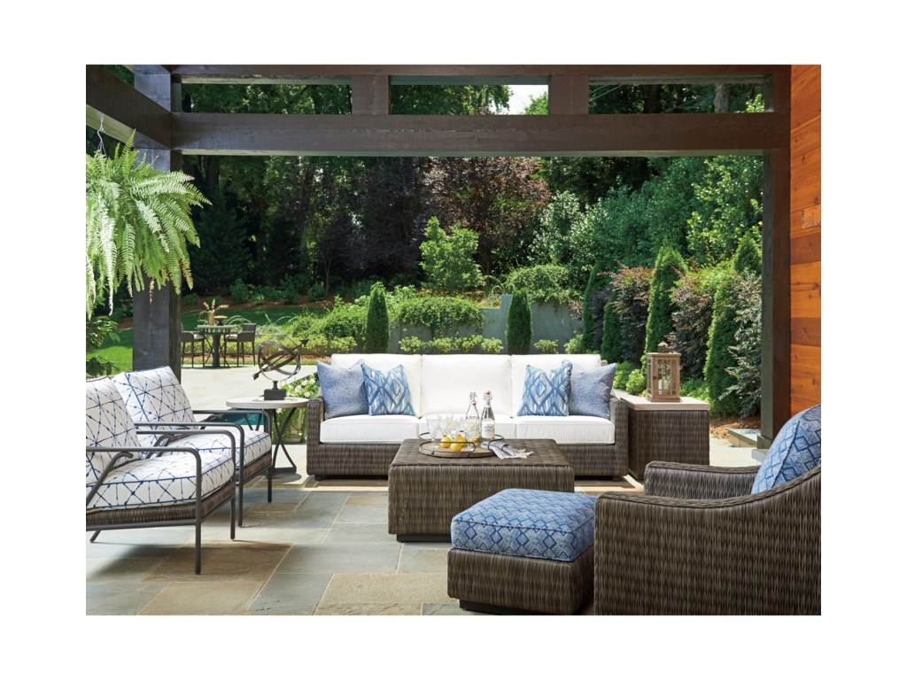 Tommy Bahama Outdoor Living Cypress Point Ocean TerraceOutdoor Square Cocktail Table