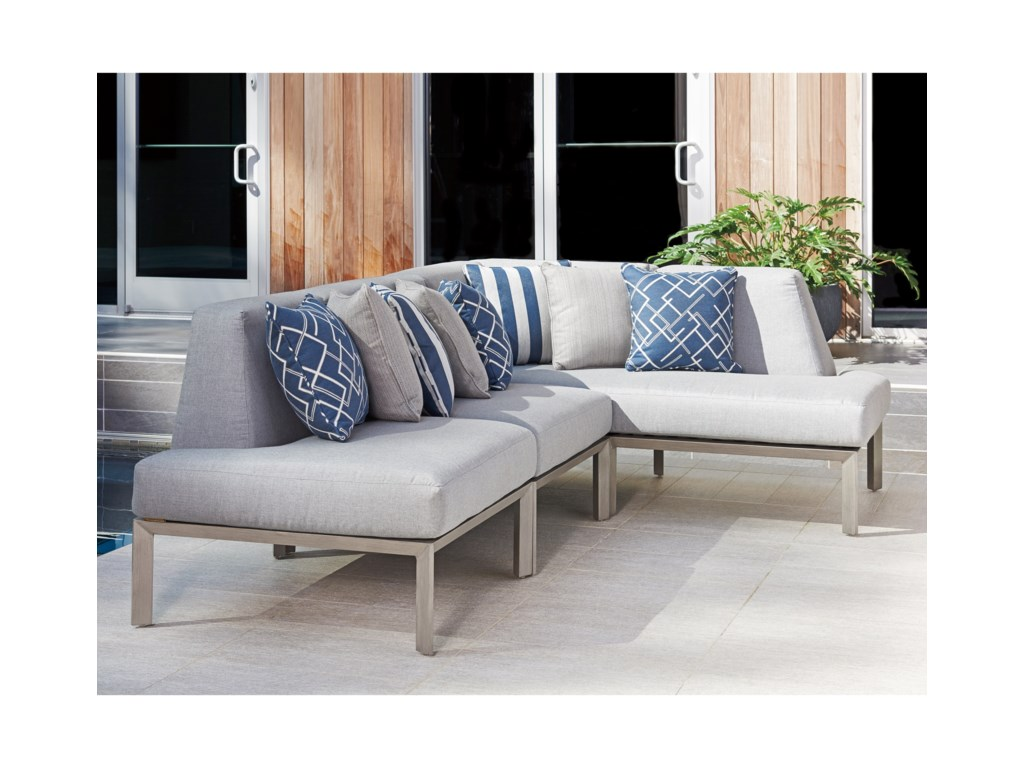 Tommy Bahama Outdoor Living Del Mar3 Pc L Sectional