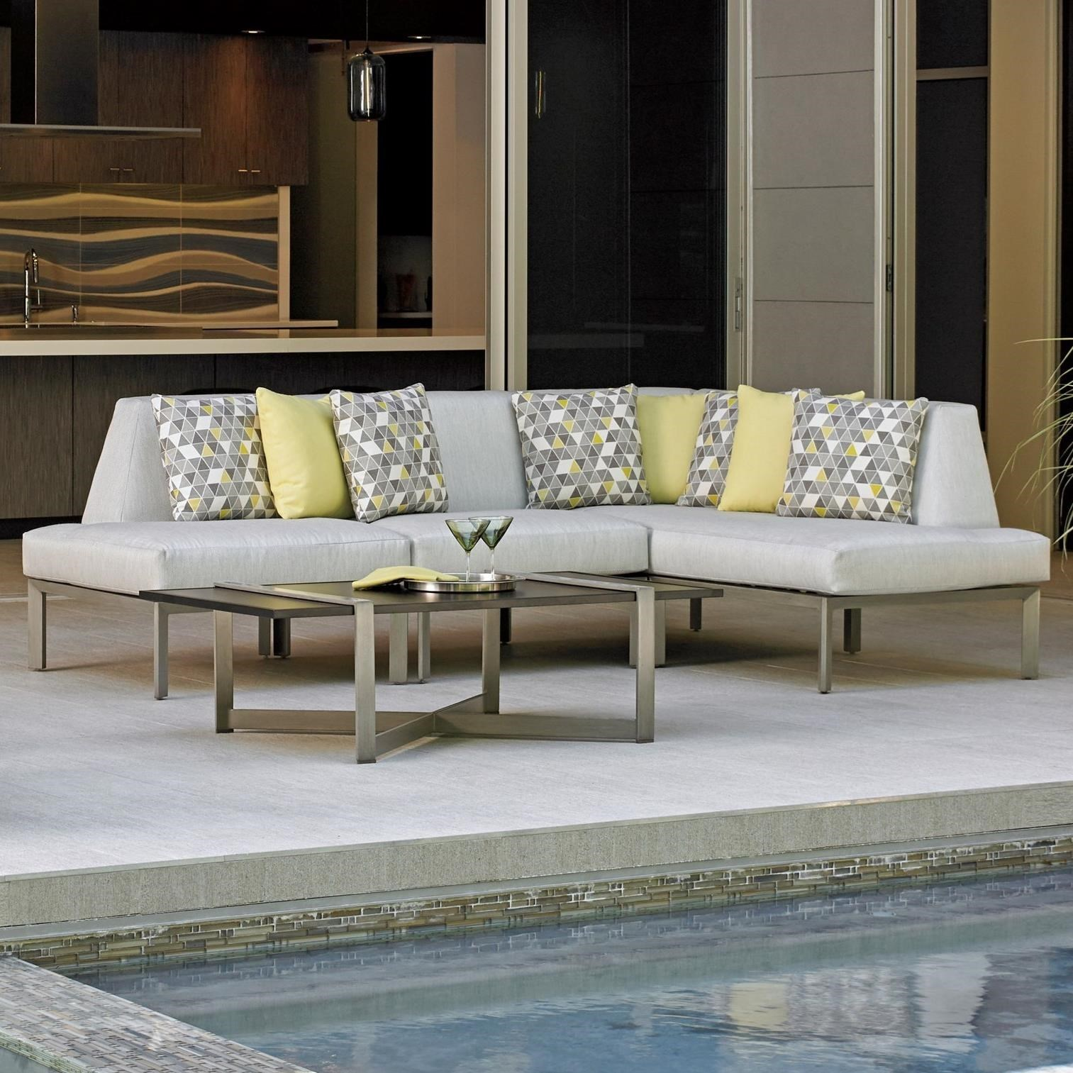 Charmant Tommy Bahama Outdoor Living Del Mar3 Pc L Sectional ...