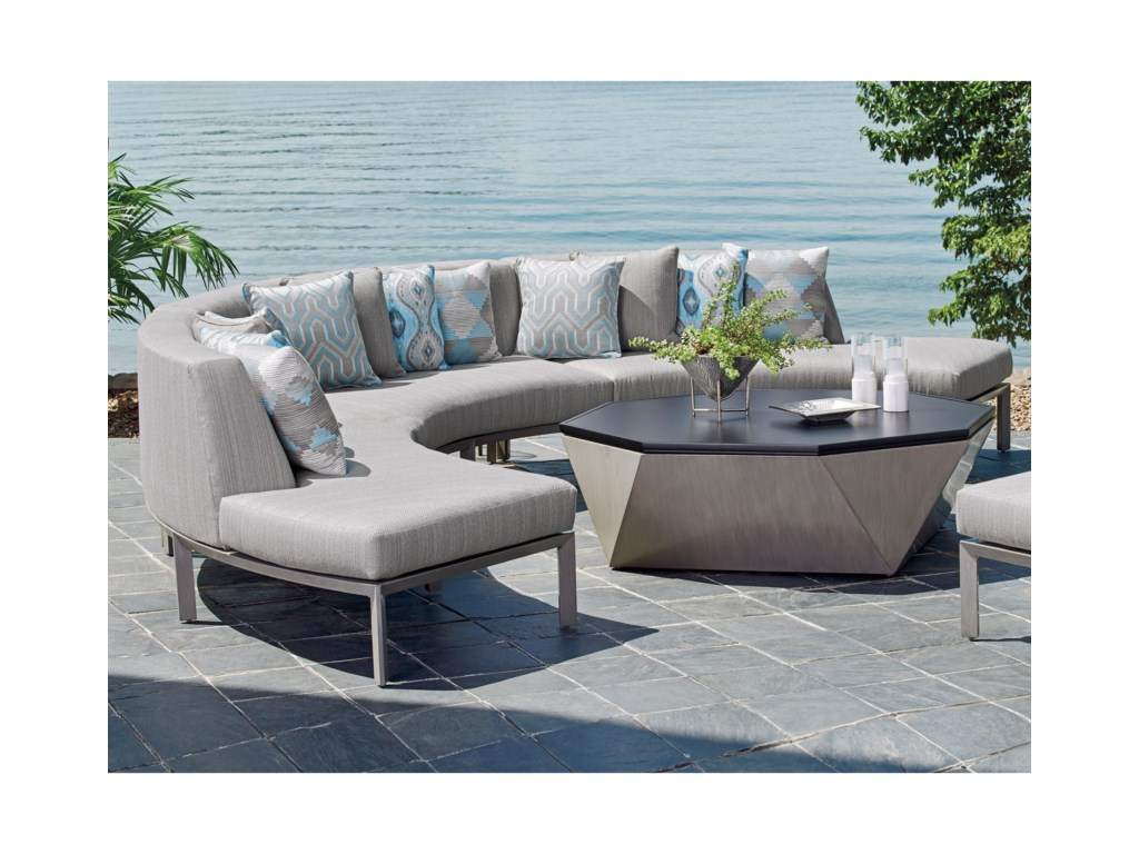 Tommy Bahama Outdoor Living Del Mar3 Pc Sectional Sofa