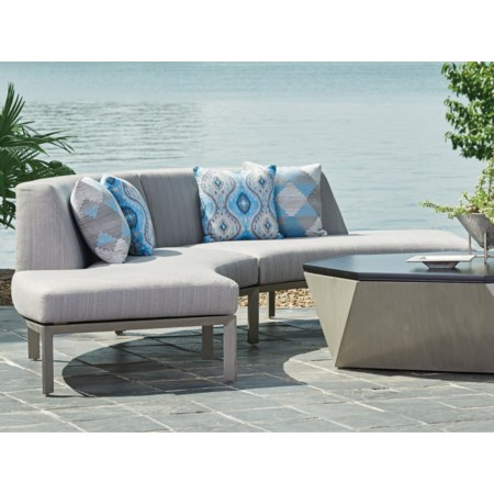 2 Pc Curved Sectional