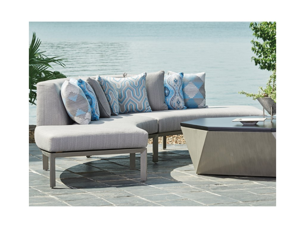 Tommy Bahama Outdoor Living Del Mar2 Pc Curved Sectional