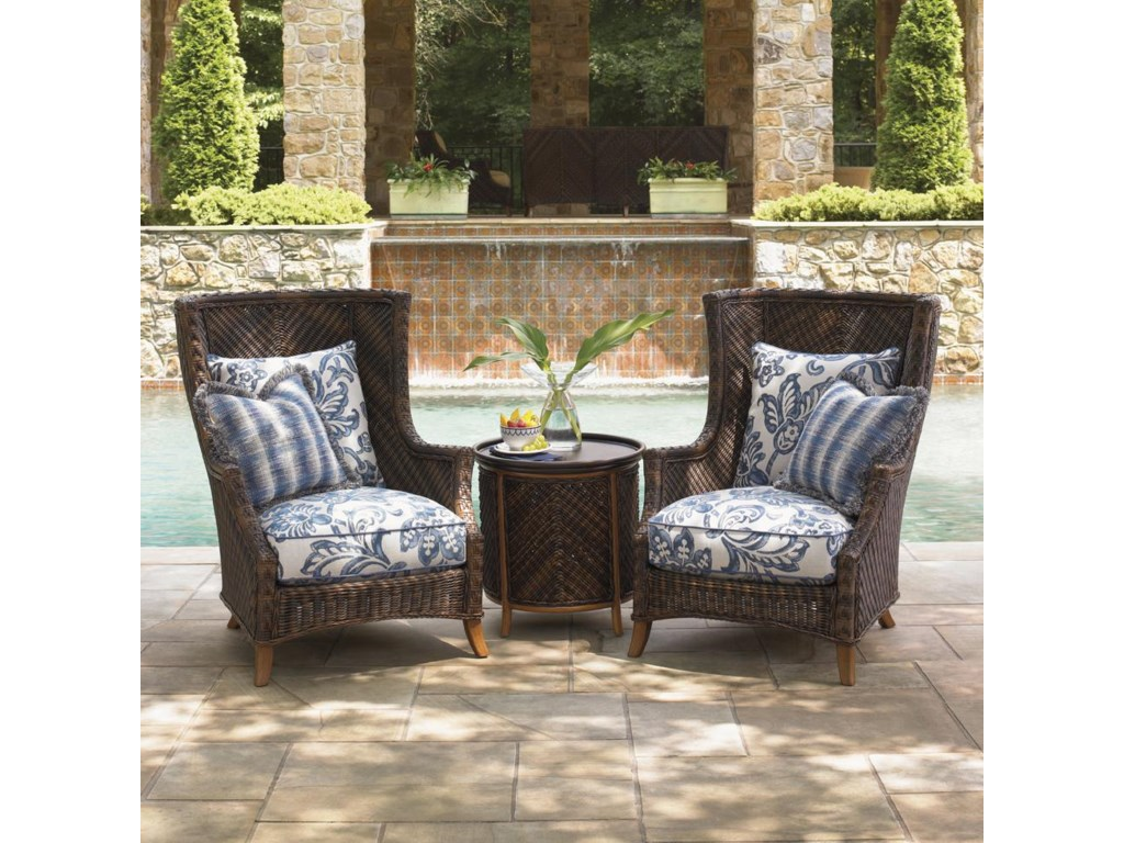 Tommy Bahama Outdoor Living Island Estate Lanai2 Chair Set with Table