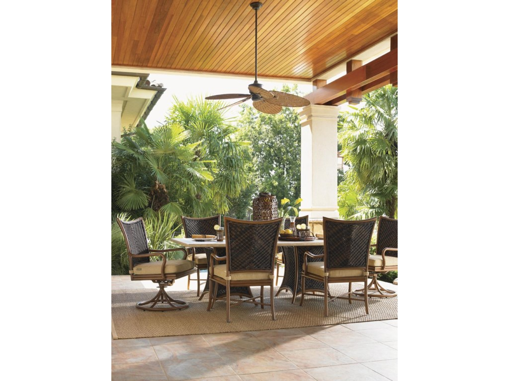 Tommy Bahama Outdoor Living Island Estate LanaiOutdoor 84 x 44 Weatherstone Dining Table