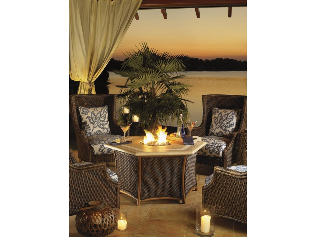 Tommy Bahama Outdoor Living Island Estate Lanai5 Piece Fire Pit Set