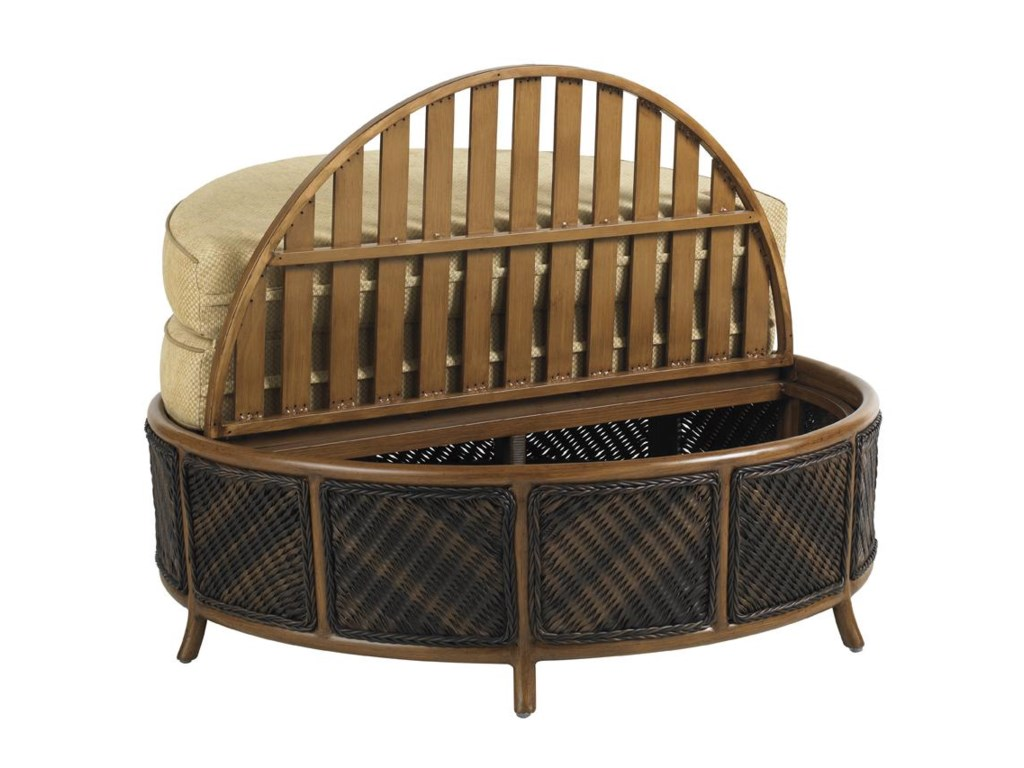 Shown with Storage Top Open - Tommy Bahama Outdoor Living Island Estate Lanai Outdoor Woven