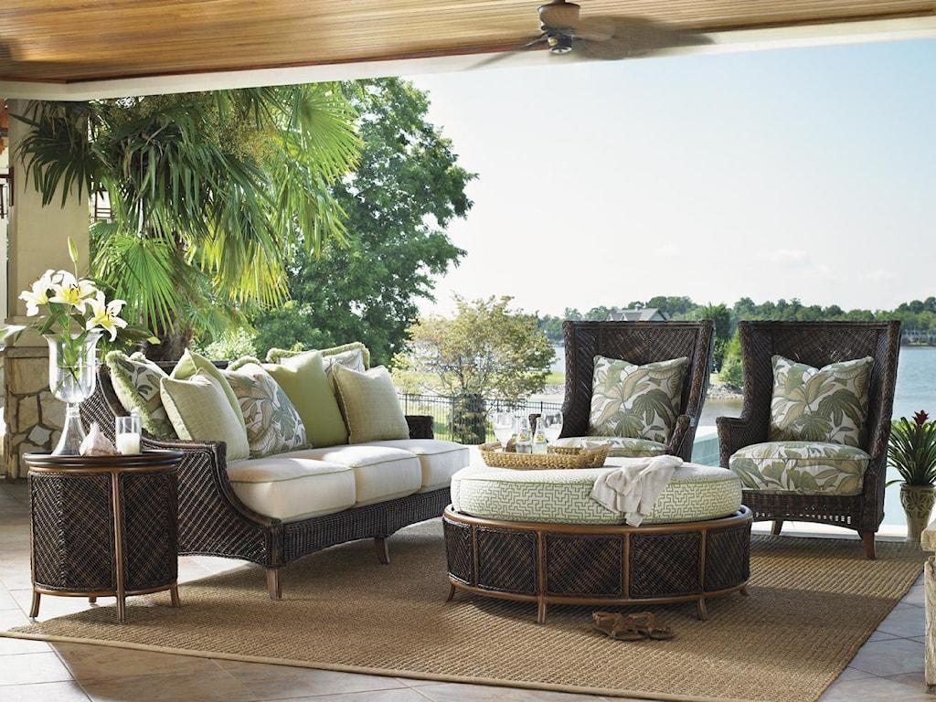 Tommy Bahama Outdoor Living Island Estate LanaiOutdoor Storage Ottoman