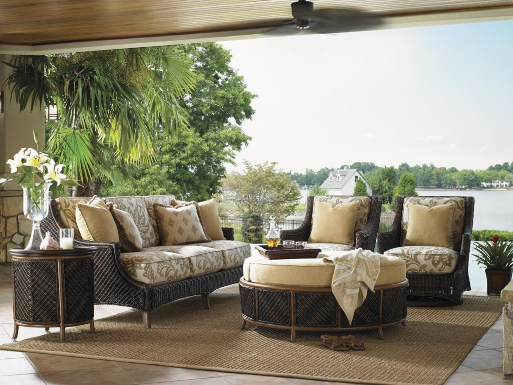 Shown with Lounge Swivel Chairs, Tray End Tables and Sofa