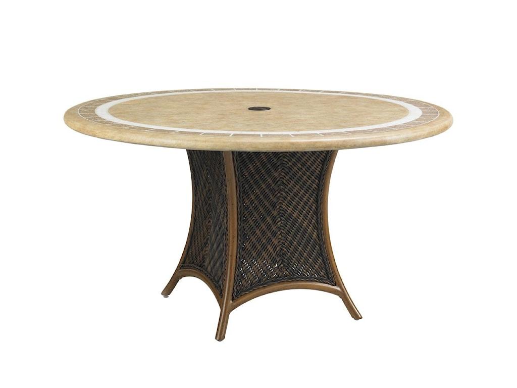 Round Weatherstone Single Pedestal Table