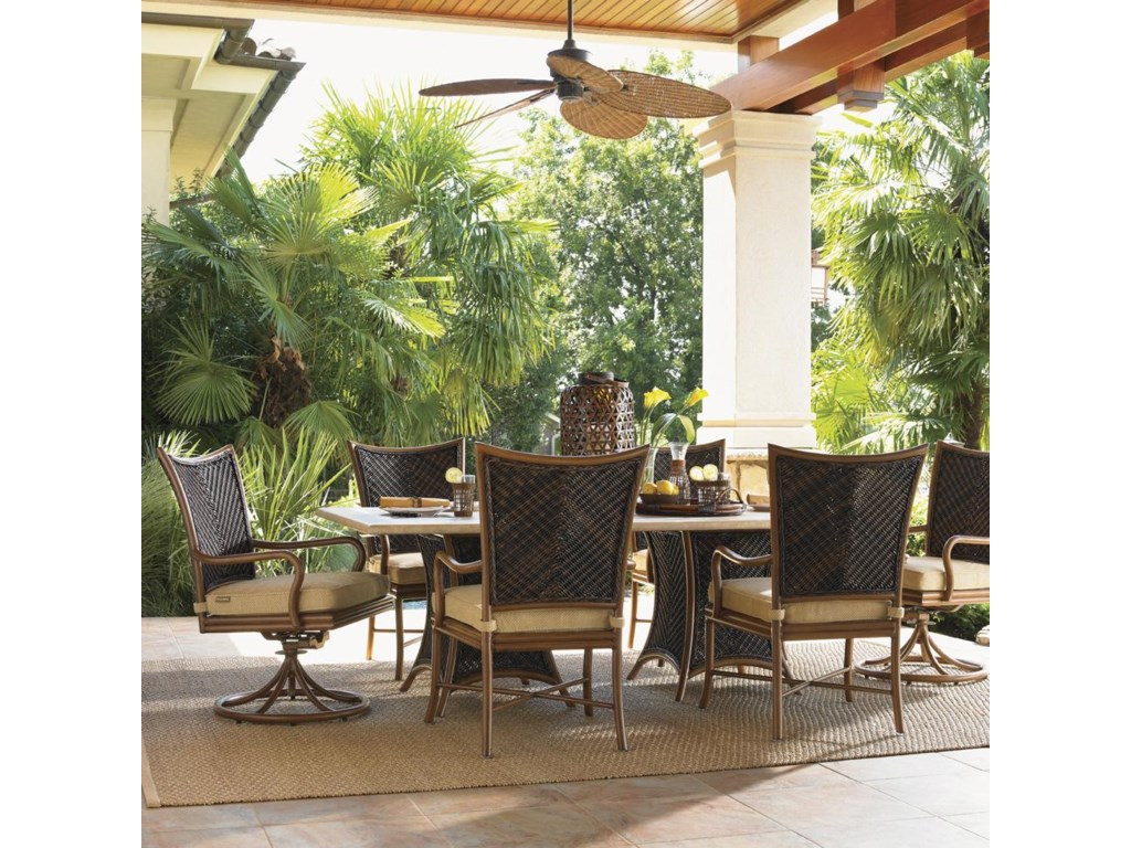 Tommy Bahama Outdoor Living Island Estate Lanai7 Piece Outdoor Dining Set