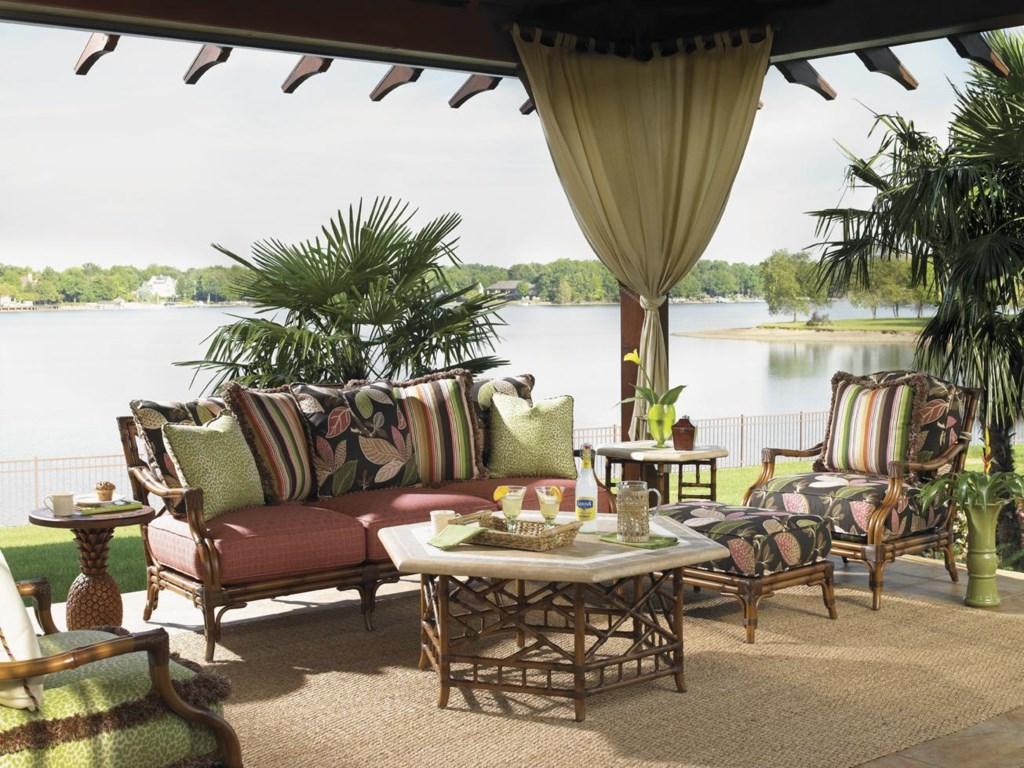 Shown with Cocktail Table, Scatterback Sofa, Side Table, Ottoman and Alfresco Living Pineapple Table