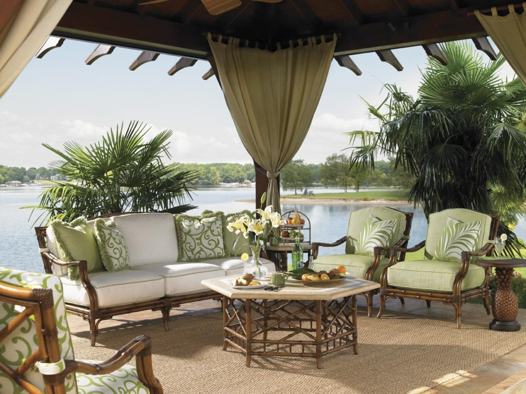 Shown with Lounge Chair, End Table, Cocktail Table, and Alfresco Living Pineapple Table,