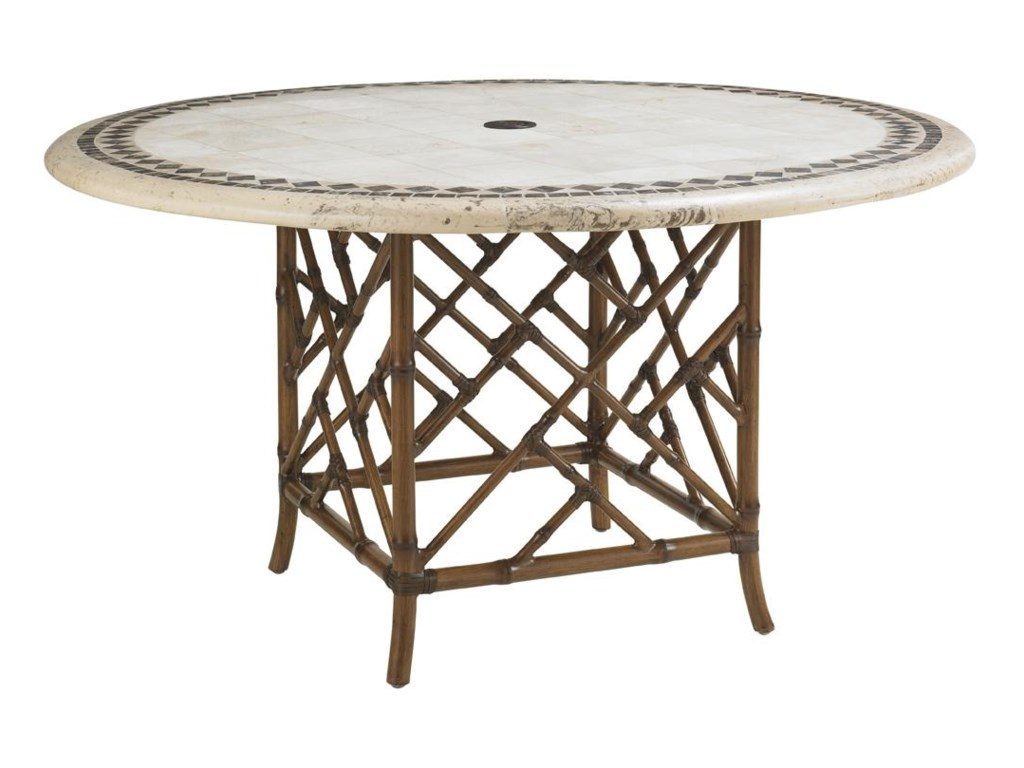 Tommy Bahama Outdoor Living Island Estate VerandaOutdoor Stone Round Dining Table