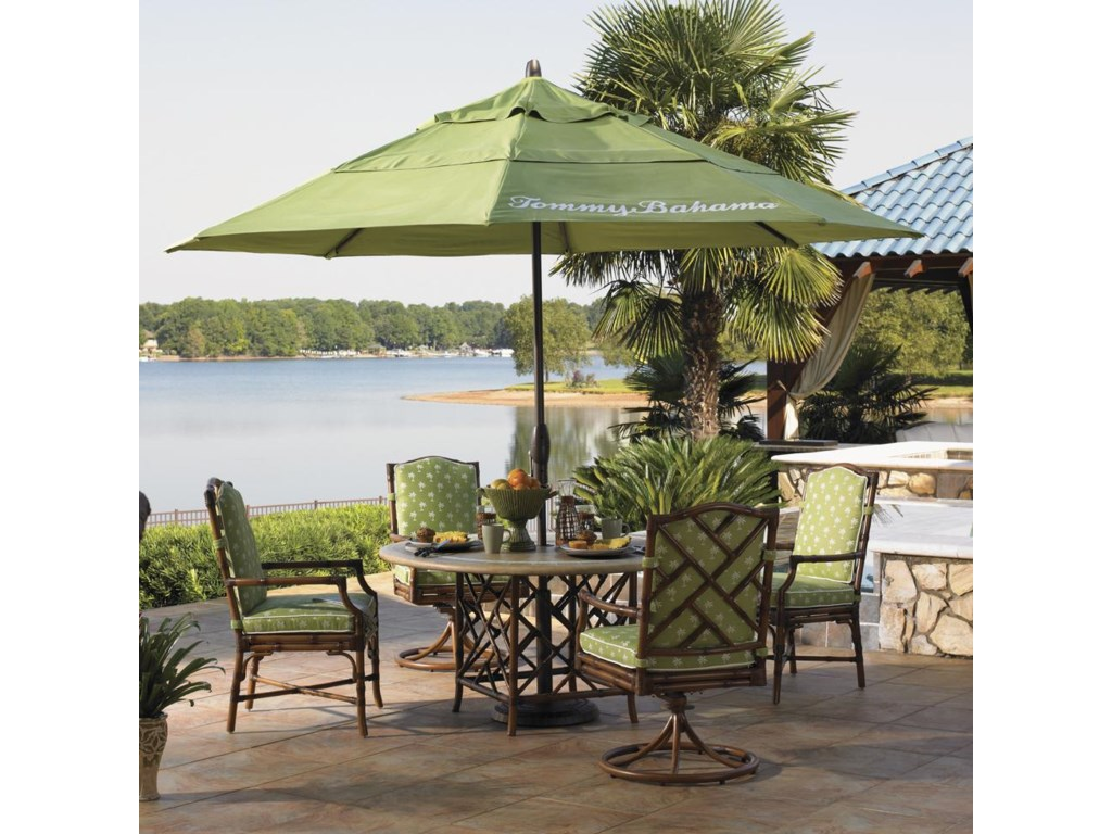 Ginko Umbrella Featured is From the Alfresco Living Collection