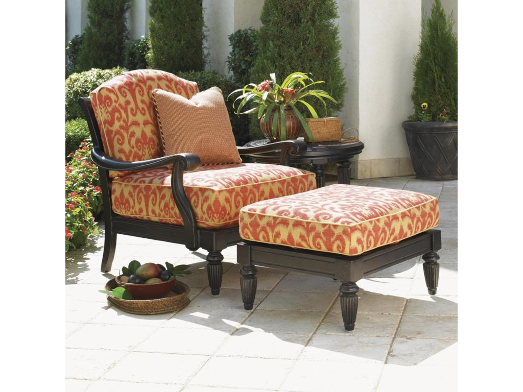 Tommy Bahama Outdoor Living Kingstown SedonaChair and Ottoman Set with Table