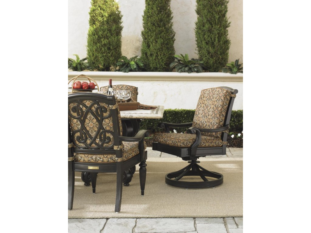 Tommy Bahama Outdoor Living Kingstown SedonaSwivel Rocker Dining Chair