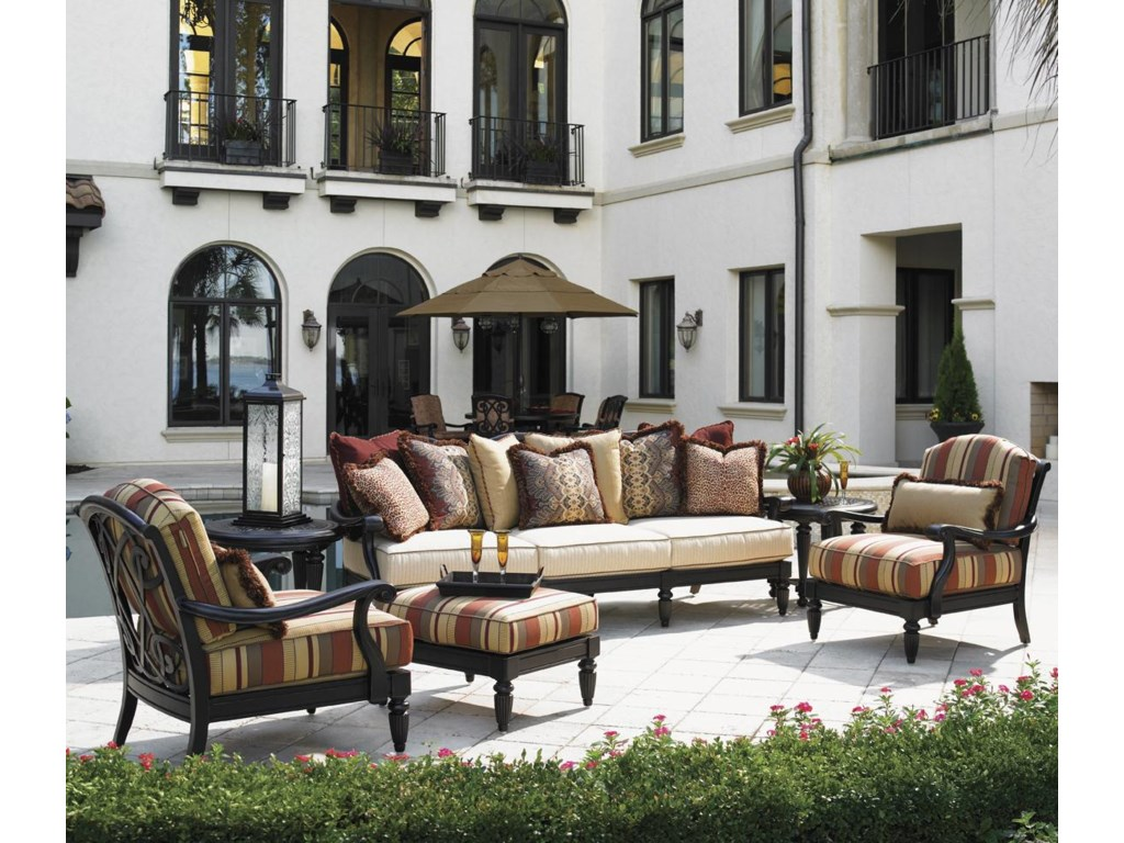 Tommy Bahama Outdoor Living Kingstown Sedona 6 Piece Patio Set With 2 Lounge Chairs