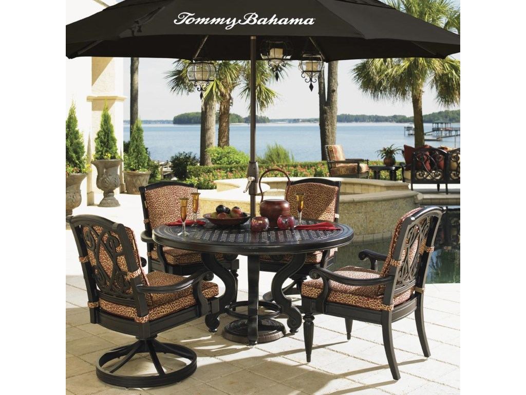 Tommy Bahama Outdoor Living Kingstown SedonaCast Top Dining Table
