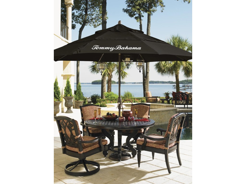 Tommy Bahama Outdoor Living Kingstown SedonaStone Round Dining Table