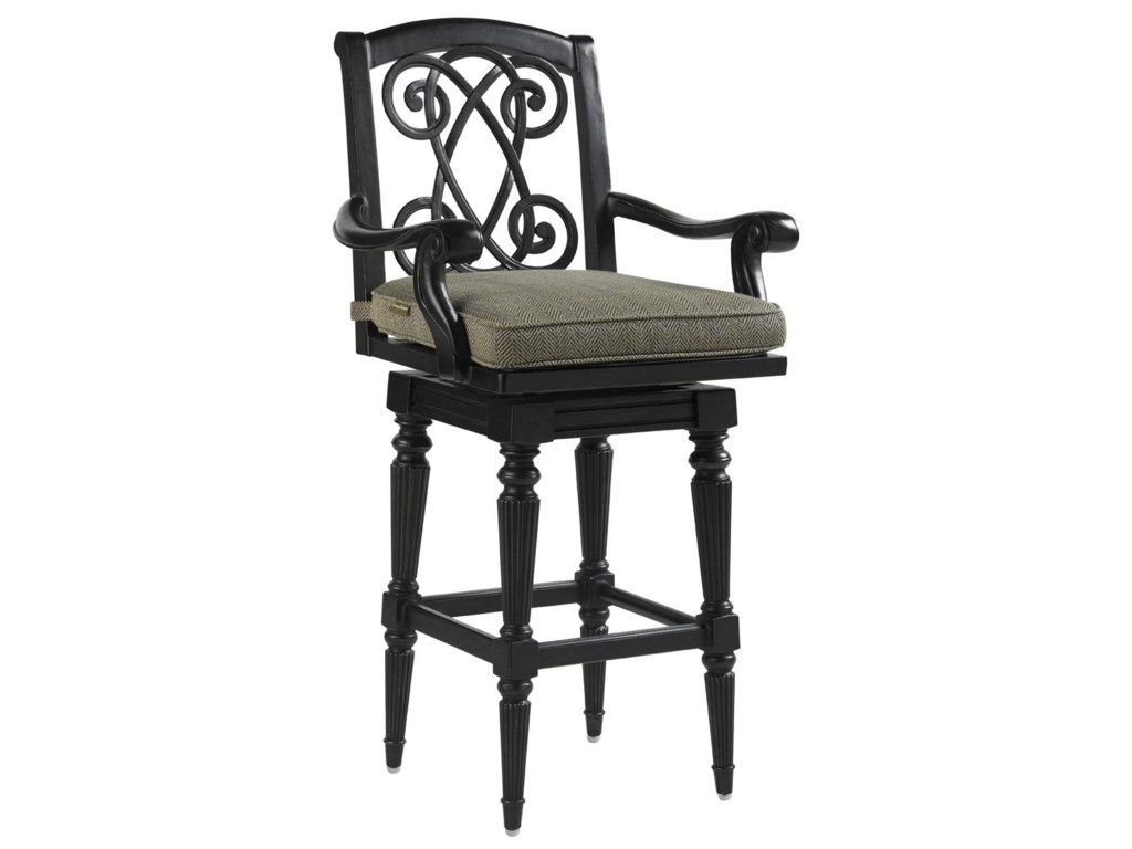 Tommy Bahama Outdoor Living Kingstown Sedona3 Piece Dining Pub Set with Bar Stools