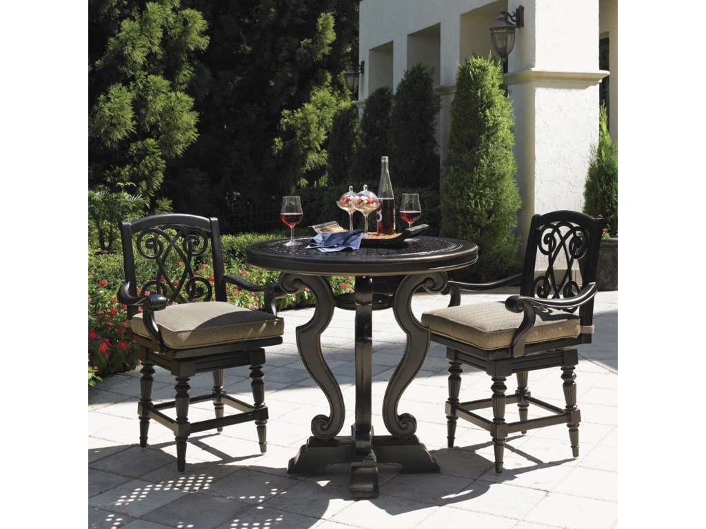 Tommy Bahama Outdoor Living Kingstown Sedona3 Piece Dining Pub Set with Counter Stools