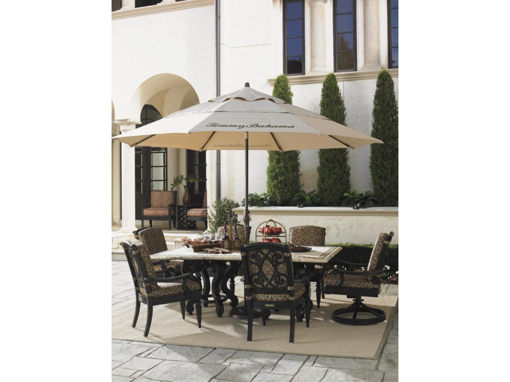 Tommy Bahama Outdoor Living Kingstown SedonaStone Rectangular Dining Table