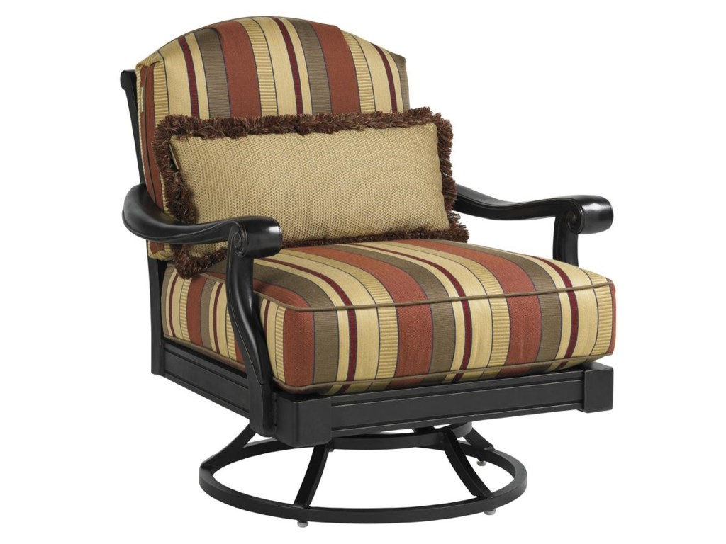 Set Includes Two Swivel Lounge Chairs