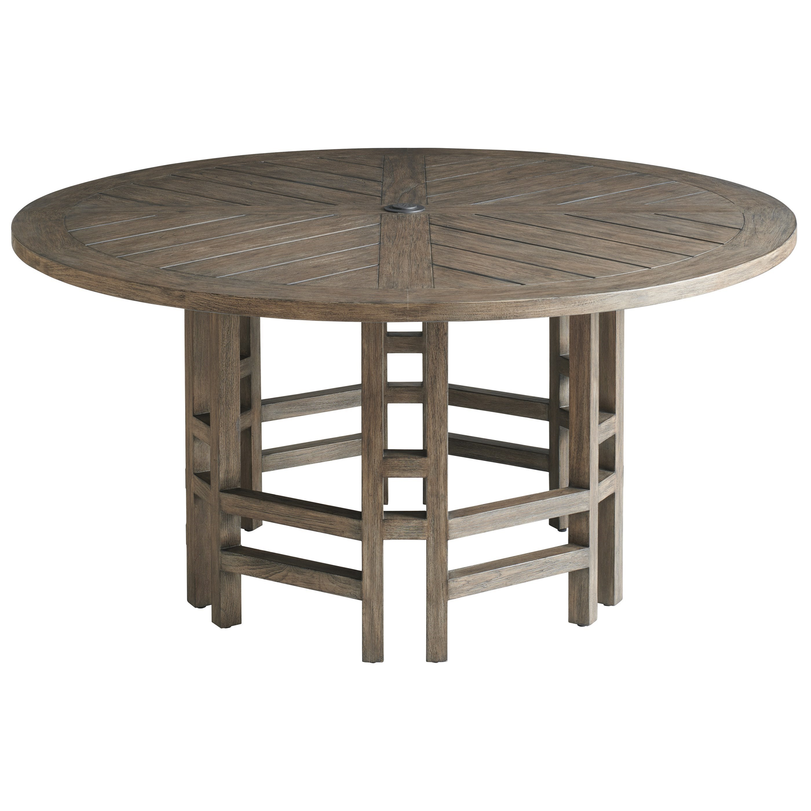 Contemporary Outdoor Teak Round Dining Table