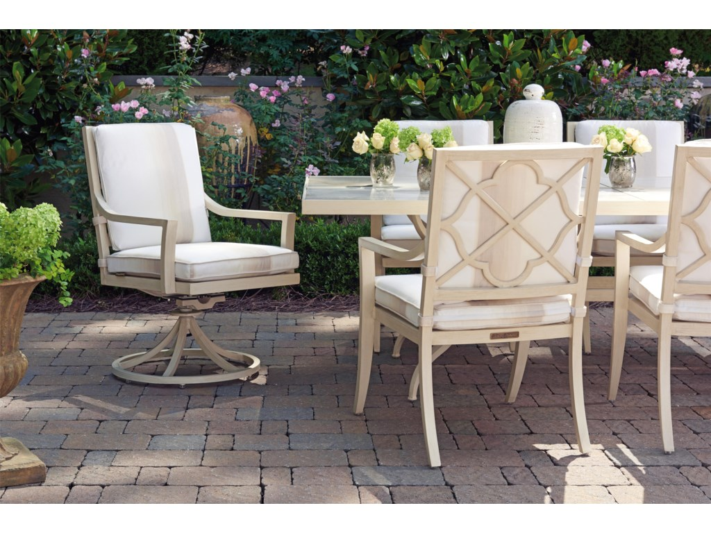 Tommy Bahama Outdoor Living Misty GardenSwivel Rocker Dining Chair