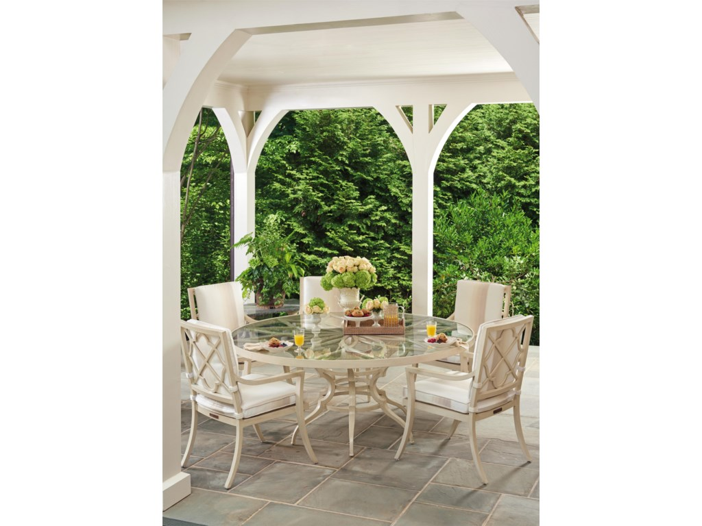 Tommy Bahama Outdoor Living Misty Garden6 Pc Dining Set with Round Table