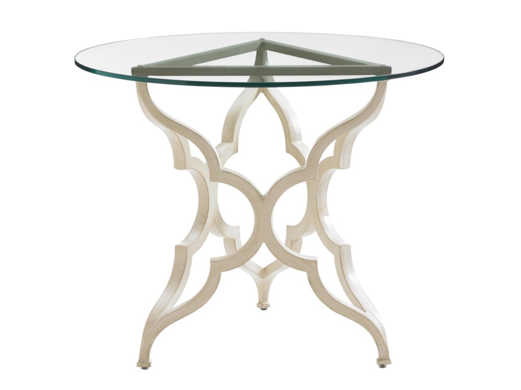Tommy Bahama Outdoor Living Misty GardenRound Breakfast Table w/ Glass Top