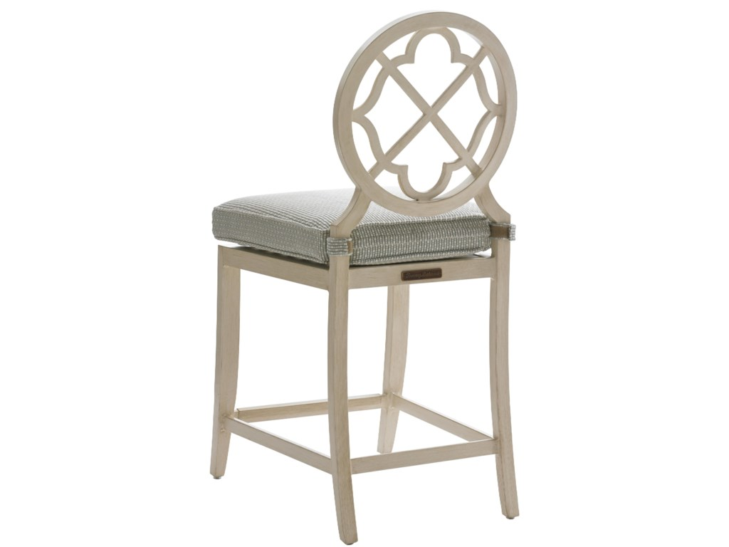 Tommy Bahama Outdoor Living Misty Garden3 Pc High/Low Bistro Table w/ Counter Stools