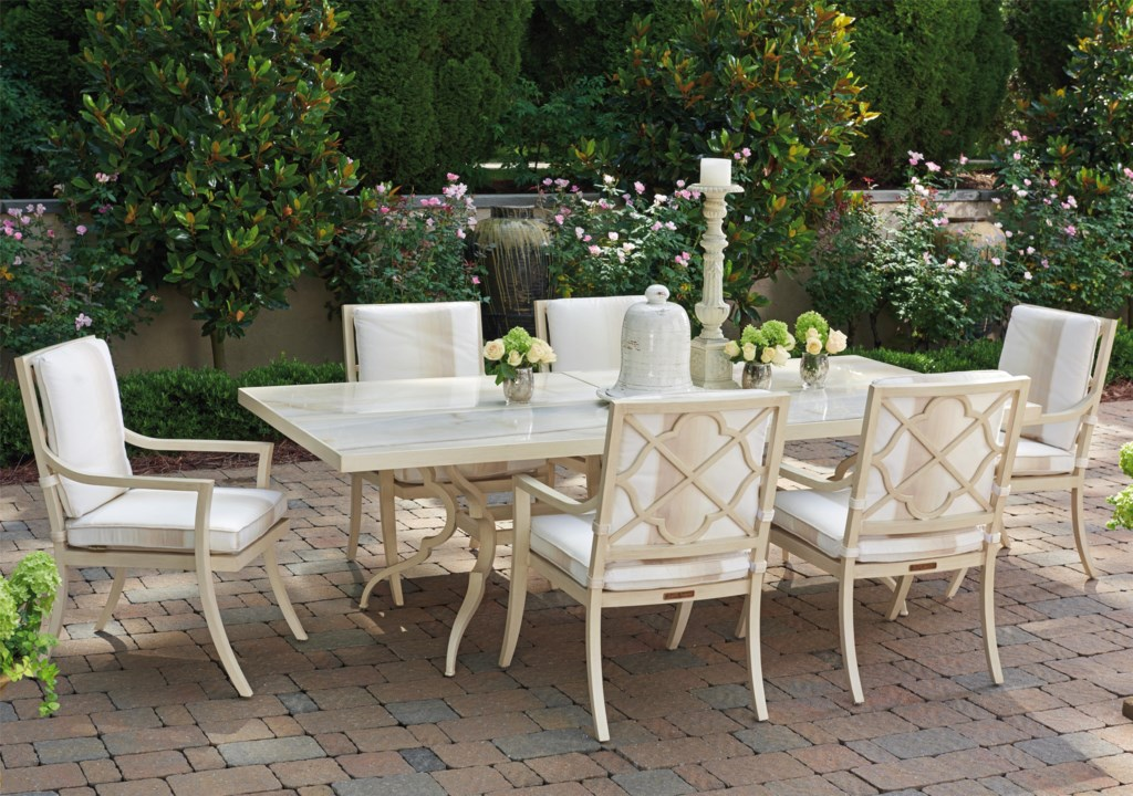 Tommy Bahama Outdoor Living Misty Garden Seven Piece Outdoor Dining