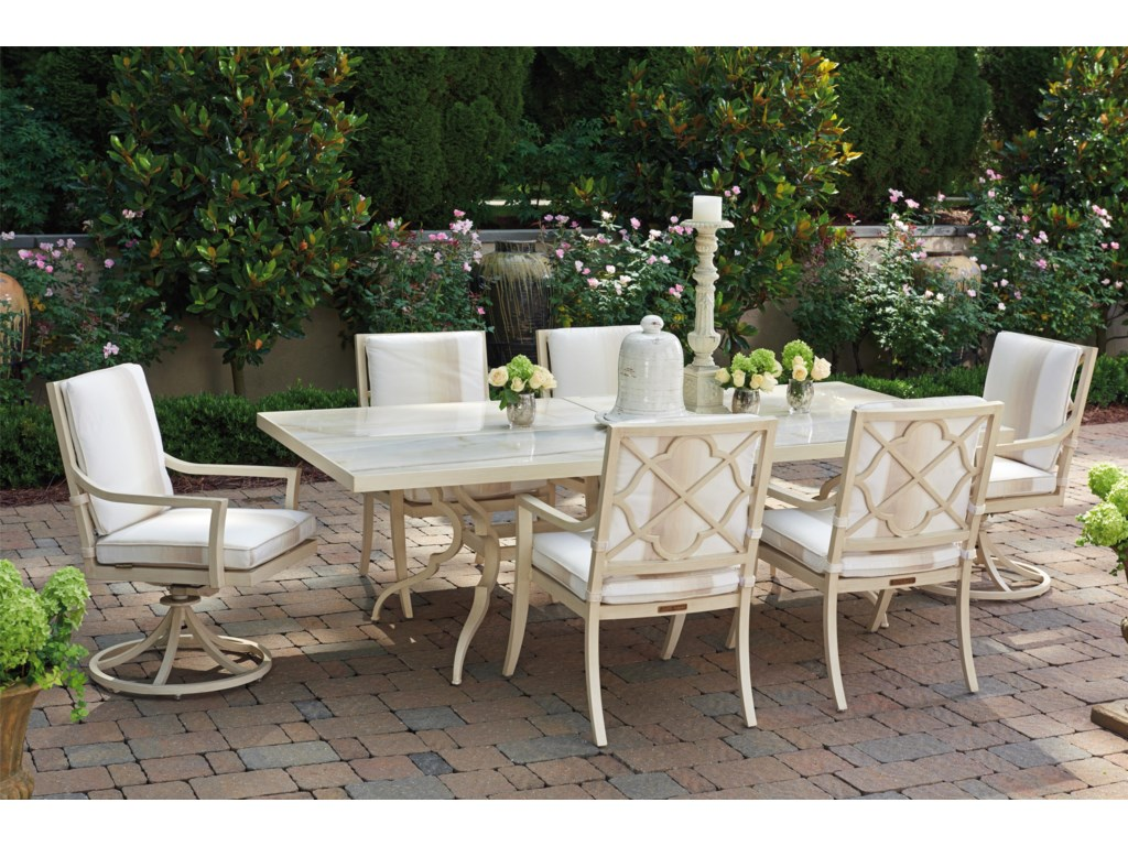 Tommy Bahama Outdoor Living Misty GardenRectangular Dining Table w/ Porcelain Top