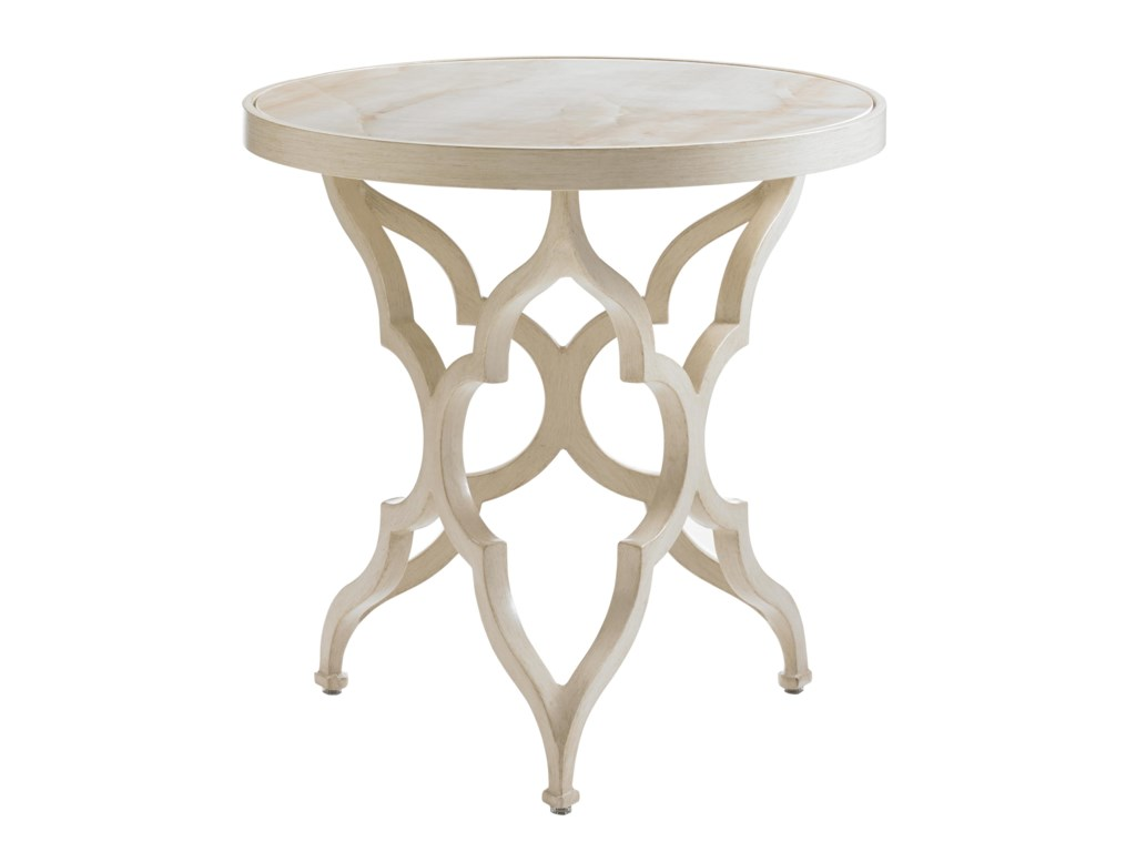 Tommy Bahama Outdoor Living Misty GardenRound Accent Table w/ Porcelain Top