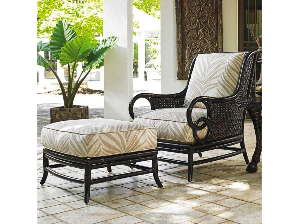 Tommy Bahama Outdoor Living Marimba Outdoor Lounge Chair and Ottoman ...