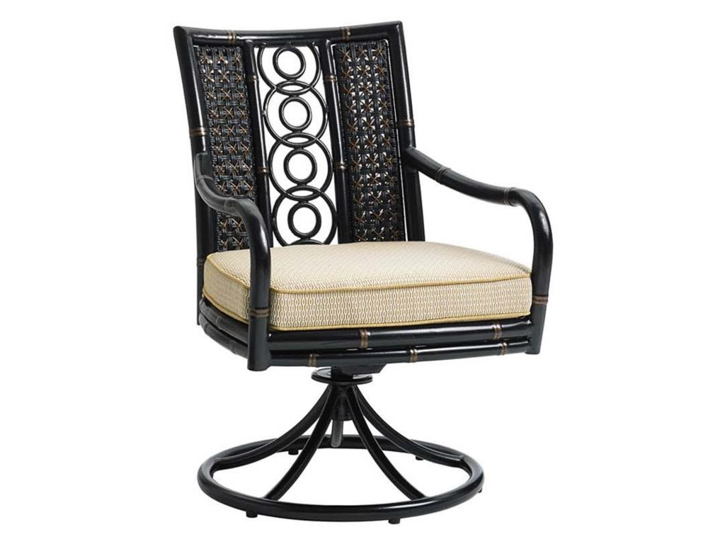 Tommy Bahama Outdoor Living MarimbaSwivel Rocker Dining Chair