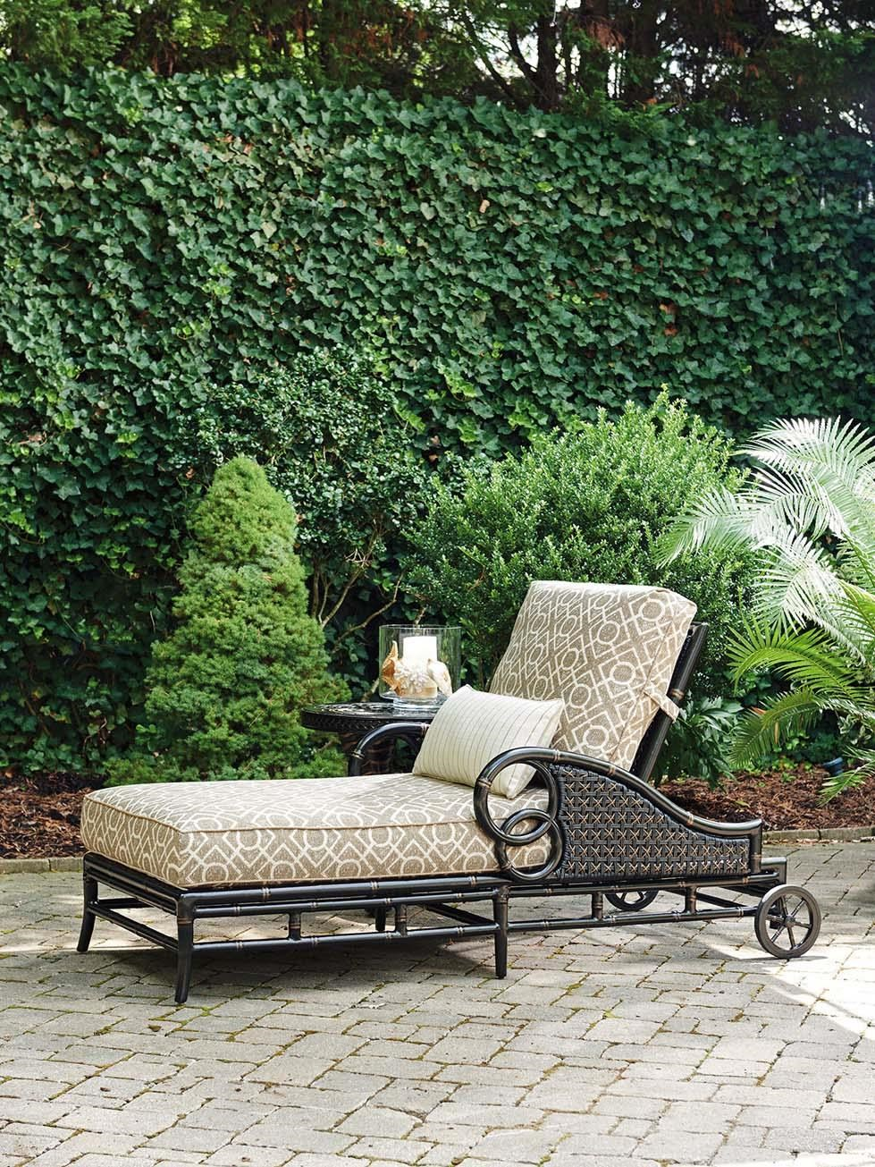 Tommy Bahama Outdoor Living Marimba Outdoor Chaise Lounge with Weatherproof Accent Pillow  sc 1 st  Baeru0027s Furniture : tommy bahama chaise lounge - Sectionals, Sofas & Couches