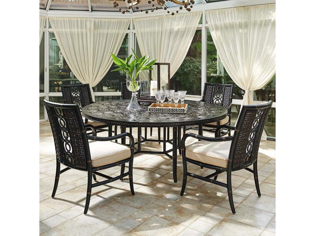 Tommy Bahama Outdoor Living Marimba6 Pc Round Dining Table and Chair Set