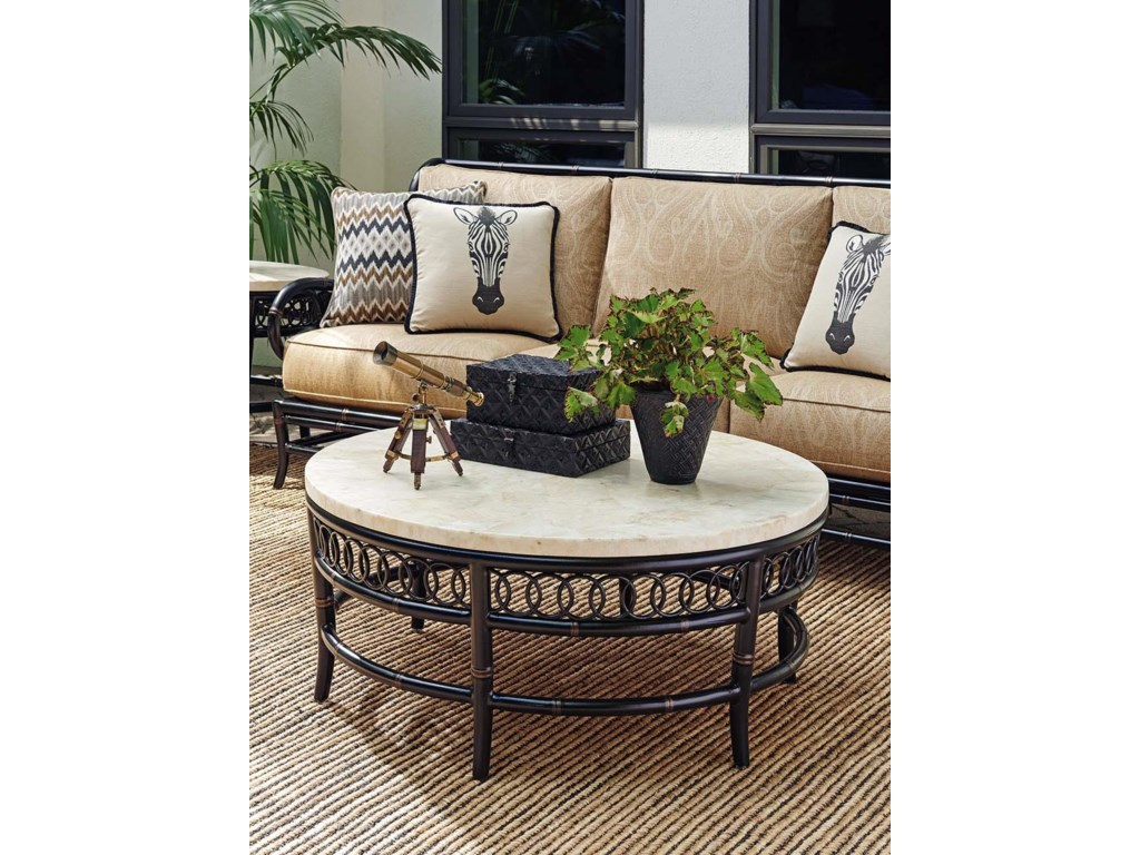 Tommy Bahama Outdoor Living MarimbaRound Cocktail Table