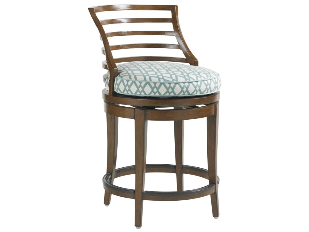 Tommy Bahama Outdoor Living Ocean Club PacificaOutdoor Swivel Counter Stool